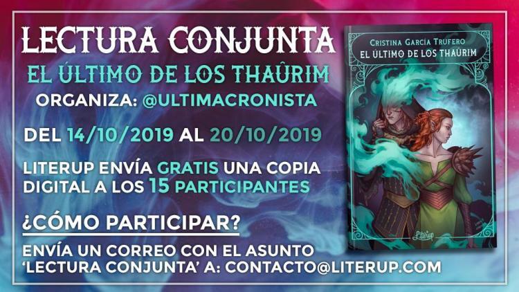 Cartel de la lectura conjunta de 'El último de los thaûrim'