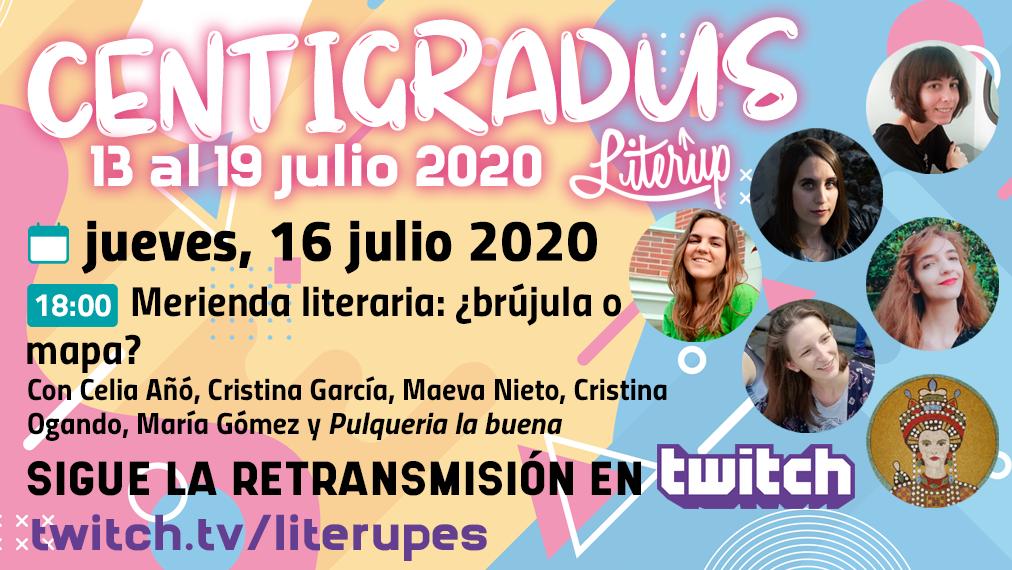 Cartel del evento Centigradus - Merienda literaria: ¿brújula o mapa?